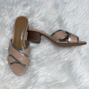 NWOT Coach Murielle silver and beige sandal